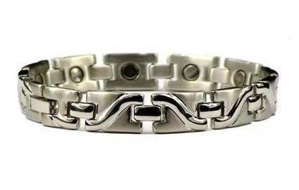 Silver Surf - Silver Plated Pure Titanium Magnetic Therapy Bracelet (TT-6)