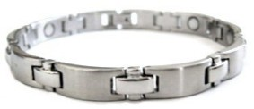 Stepping Stones - Stainless Steel Magnetic Therapy Bracelet