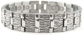 Silver Lines - Stainless Steel Magnetic Therapy Bracelet