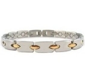 Gold Connection - Stainless Steel Magnetic Therapy Bracelet