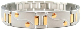 Golden Dots - Stainless Steel Magnetic Therapy Bracelet