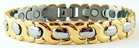 Golden Hugs  - Stainless Steel Magnetic Therapy Bracelet