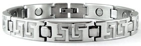 Silver Pathway - Stainless Steel Magnetic Therapy Bracelet