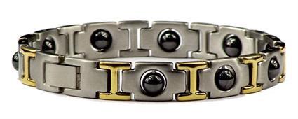 Hematite - Stainless Steel Magnetic Therapy Bracelet (SS-MRB2) - DISCONTINUED