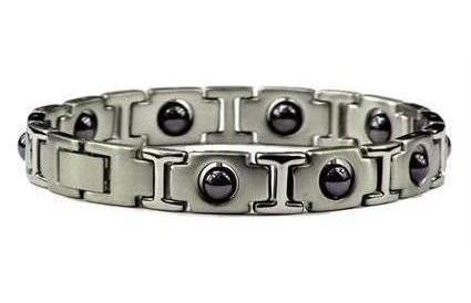 Silver Hematite - Stainless Steel Magnetic Therapy Bracelet (SS-MRB2S) - DISCONTINUED