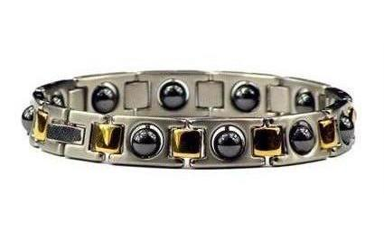 Hematite Combo Classic - Stainless Steel Magnetic Therapy Bracelet (SS-MRB4)