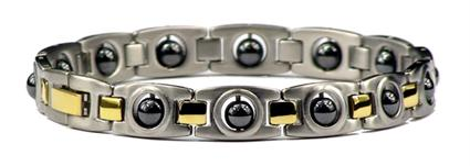 Hematite Ovals - Stainless Steel Magnetic Therapy Bracelet (SS-MRB5) - DISCONTINUED