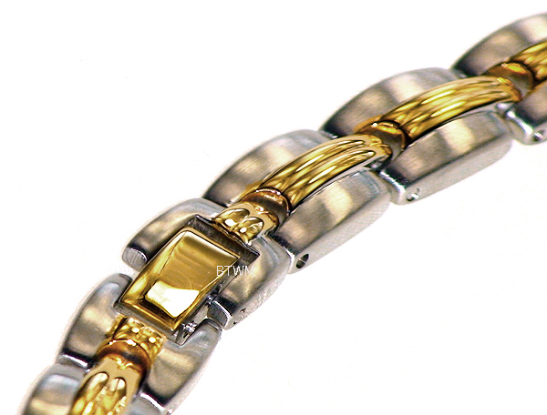 Golden Grooves - Gold Plated Stainless Steel Magnetic Therapy Necklace (SSN-20)