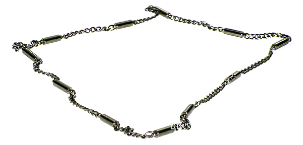 Silver Plated Stainless Steel Magnetic Therapy Necklace (SSN-2)