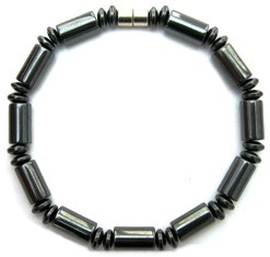 Stargate - Hematite Magnetic Therapy Bracelet (MHB-613-8XL)