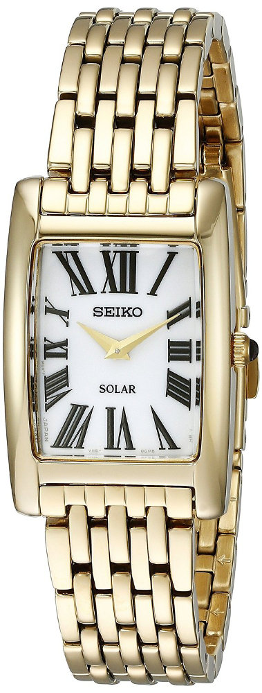Seiko Core Collection SUP270 - Womens Gold Solar Watch w/ Roman Numerals - LIMITED STOCK