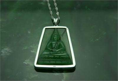 Jade Thai Buddha Pendant (RC2474) - DISCONTINUED