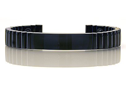 Q-Link Black Ceramic Titanium Bracelet - New!