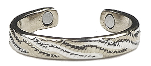 Braids of Silver - Silver Plated Magnetic Therapy Toe Ring (TR12) - DISCONTINUED