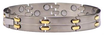Classic Two-Stack - Pure Titanium Magnetic Therapy Bracelet (TT-128) - DISCONTINUED