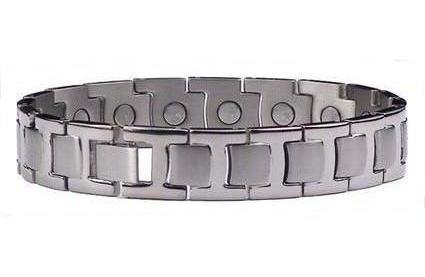 Silver Towers - Silver Plated Pure Titanium Magnetic Therapy Bracelet  (TT-134)