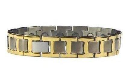 Dual T - Pure Titanium Magnetic Therapy Bracelet or Anklet (TT-135)