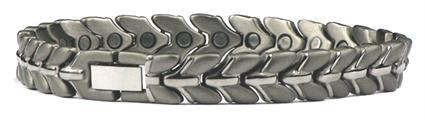 Silver Ships - Pure Titanium Magnetic Therapy Bracelet (TT-80) - DISCONTINUED