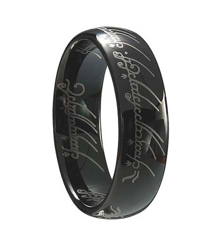 Black Lord of the Rings Style Tungsten Ring (TUR-174BP) - DISCONTINUED