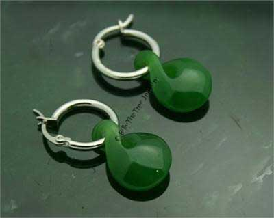 Polar Jade Single Twist Earrings (U1784)
