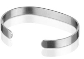 Q Ray - Lite Series - Lite Steel Natural Cuff Bracelet (Q311)