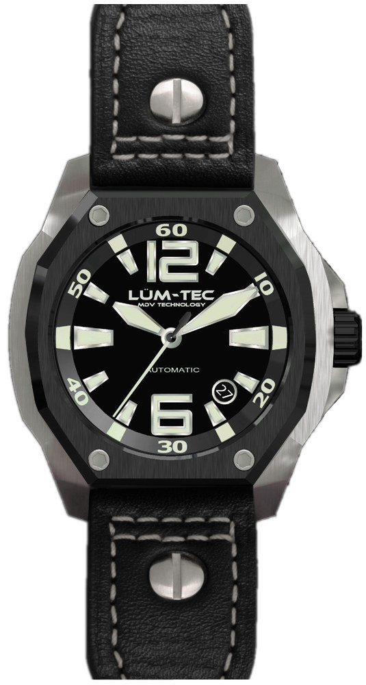 Lum-Tec Watch - V Series - V7 Automatic Mens w/ Black Leather