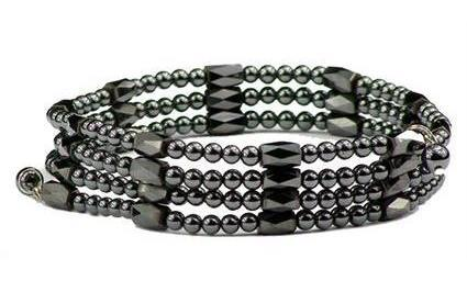 Black Wrap Around Hematite - Magnetic Therapy Bracelet/Anklet (WA-BK1)