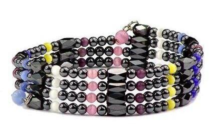 Living Colors Wrap Around Hematite - Magnetic Therapy Bracelet-Anklet (WA-MIX1)