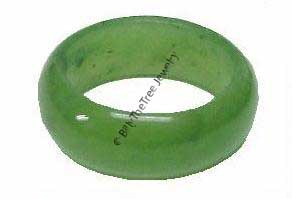 Wide Solid Jade Ring (FYR)