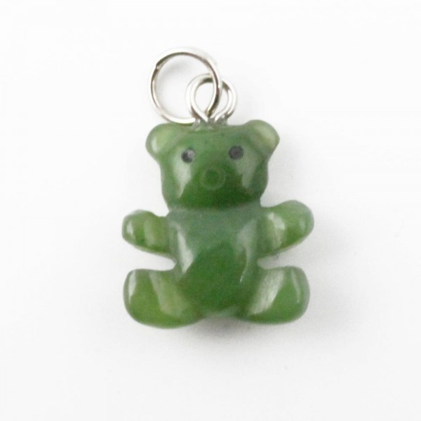 Jade Teddy Bear Charm