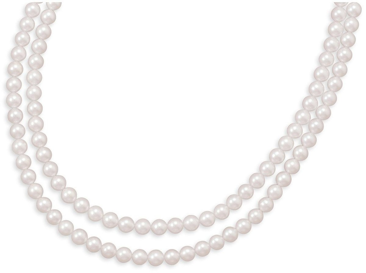 "Double Strand A"" Grade Akoya Pearl Necklace"