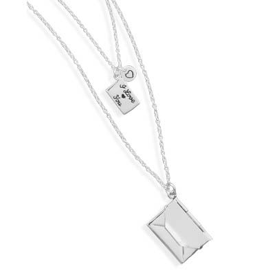"23"" and 26"" Necklace with Love Letter Charms 925 Sterling Silver - DISCONTINUED"