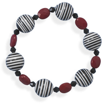 "8"" Calsilica and Glass Stretch Bracelet - DISCONTINUED"
