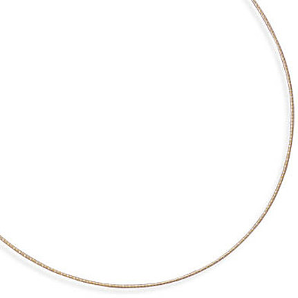 "18"" 1mm (0.04"") 22 karat Gold Plated Sterling Silver Diamond Cut Omega"
