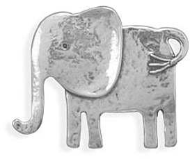 Oxidized Elephant Pin/Pendant 925 Sterling Silver