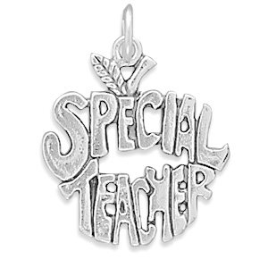 """Special Teacher"" Charm 925 Sterling Silver - DISCONTINUED"