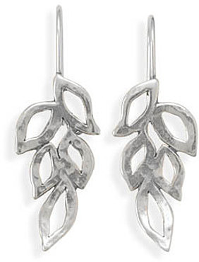 Leaf Design Earrings 925 Sterling Silver - LIMITED STOCK