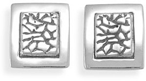 Cobblestone Post Earrings 925 Sterling Silver