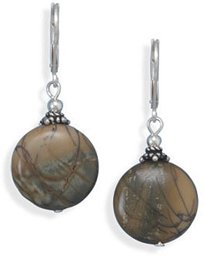 Picasso Jasper Earrings 925 Sterling Silver