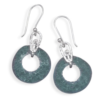 Cut Out Roman Glass Earrings 925 Sterling Silver - DISCONTINUED