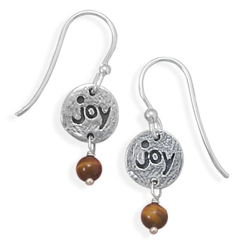 "Oxidized ""Joy"" Drop Earrings 925 Sterling Silver - DISCONTINUED"