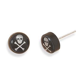 Skull and Crossbones Earrings 925 Sterling Silver - DISCONTINUED