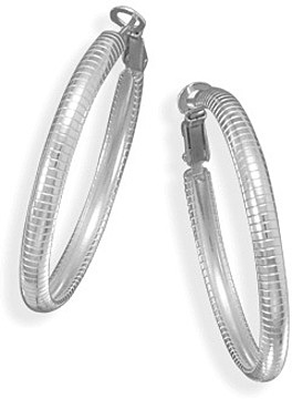 Omega Style Hoops 925 Sterling Silver - LIMITED STOCK