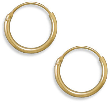 "12/20 Gold Filled 1mm (0.04"") x 13mm Hoops"