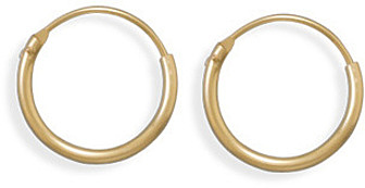 "12/20 Gold Filled 1mm (0.04"") x 15mm Hoops"