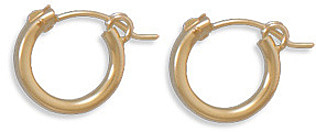 "12/20 Gold Filled 2mm (0.08"") x 12mm Hoops"