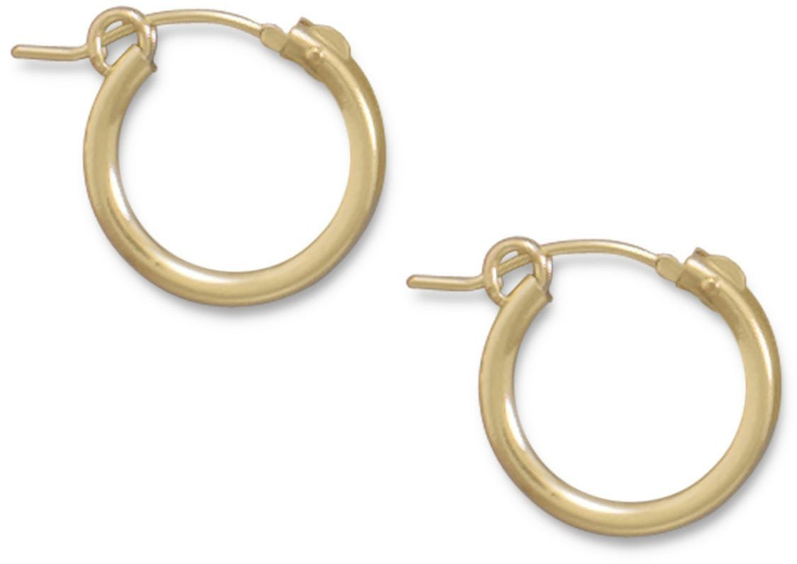 "12/20 Gold Filled 2mm (0.08"") x 15mm Hoops"