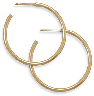 "14/20 Gold Filled 1.5mm (0.06"") x 30mm 3/4 Hoops"