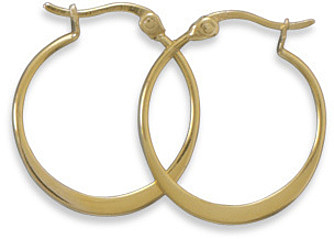 14 Karat Gold Plated Hoops 925 Sterling Silver