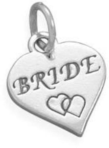 Oxidized Bride Charm 925 Sterling Silver